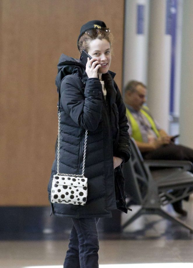 Riley Keough - Arrives at Airport in Montreal