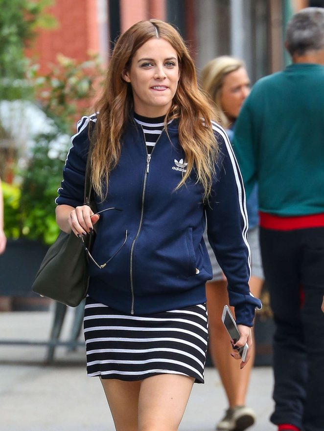 Riley Keough in Mini Dress out in New York City