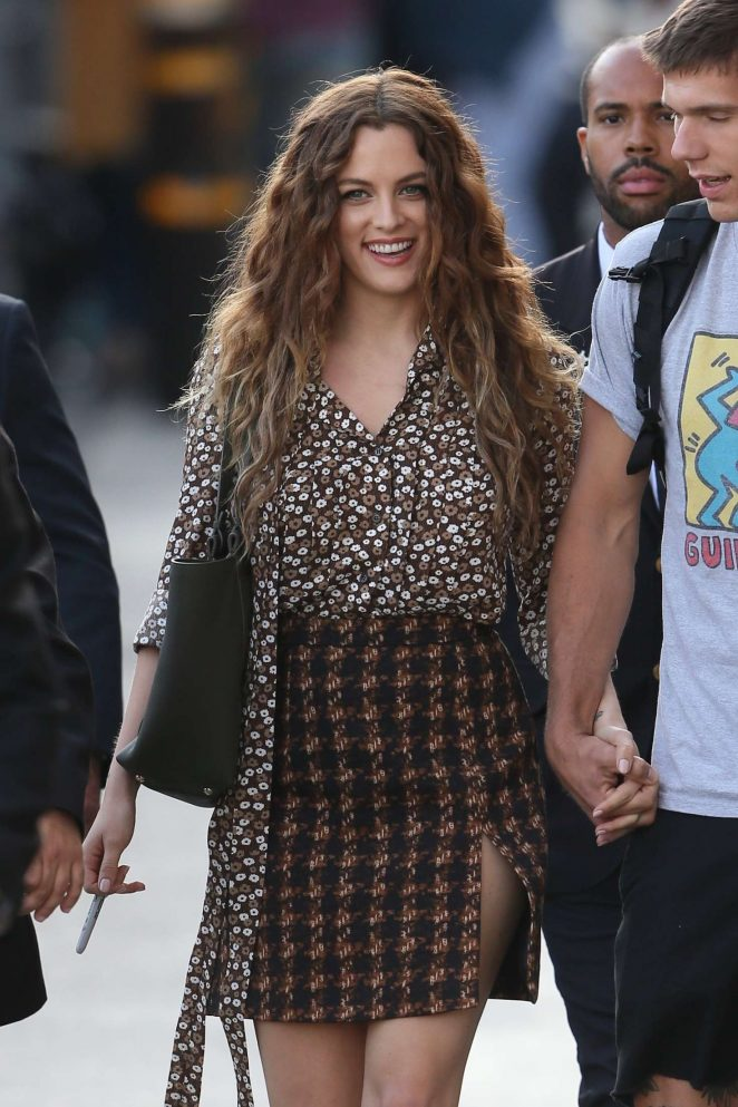 Riley Keough - Leaving 'Jimmy Kimmel Live' in Hollywood