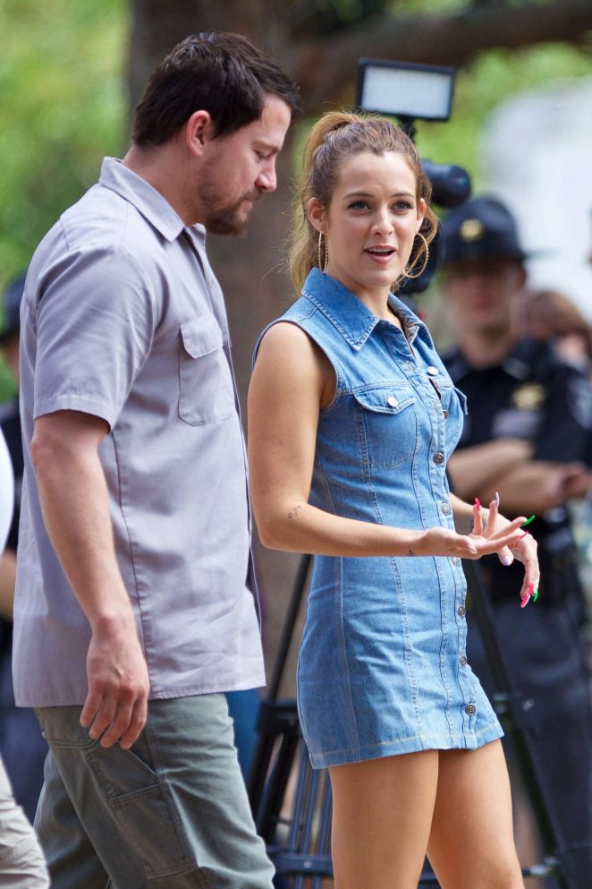 Riley Keough on The Set of 'Logan Lucky' in Hampton