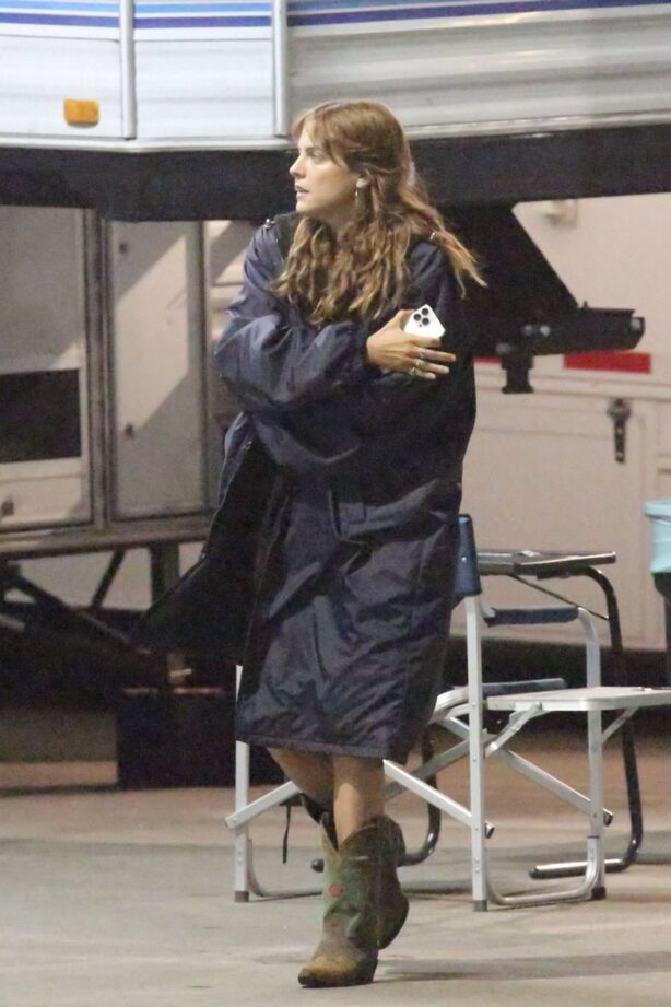 Riley Keough - Set of 'Daisy Jones and the Six' in Los Angeles