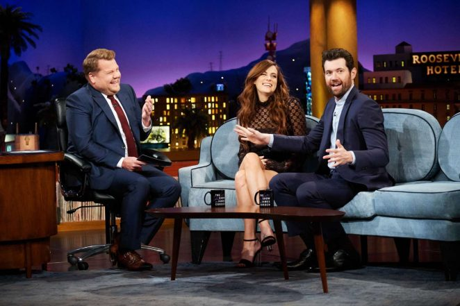 Riley Keough : The Late Late Show with James Corden -05