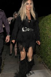 Rita Ora - Arrives at a friends house in London