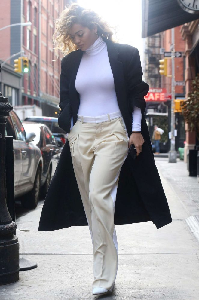 Rita Ora - Arrives at an office in New York
