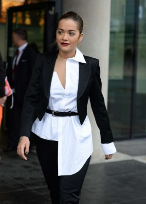 Rita Ora Arrives at BBC Breakfast studio's in Manchestern