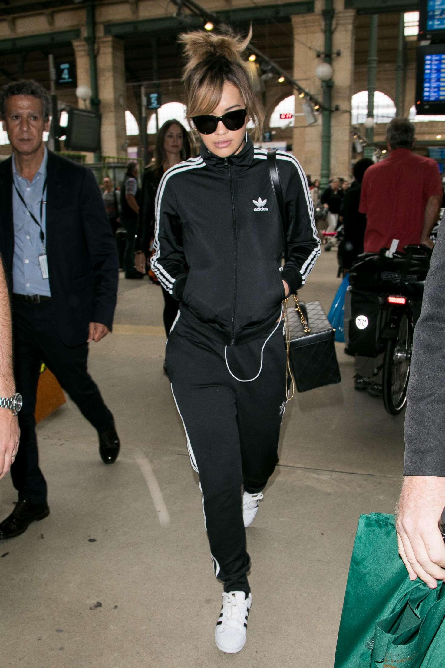 Rita Ora 2017 : Rita Ora: Arrives at Gare du Nord station -04