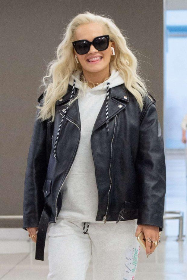 Rita Ora - Arrives at JFK Airport in New York City