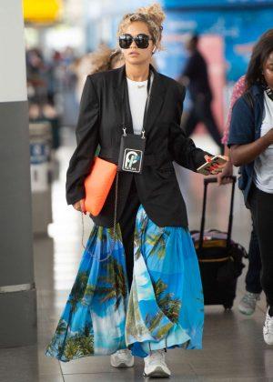 Rita Ora - Arrives at JFK airport in NYC