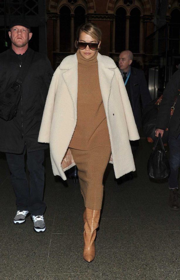 Rita Ora - Arrives at Kings Cross on a Eurostar train from Paris in London