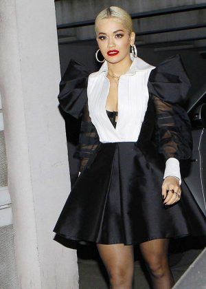 Rita Ora - Arrives at NRJ Radio in Paris