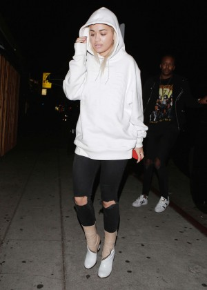 Rita Ora Arrives at the Nice Guy in West Hollywood