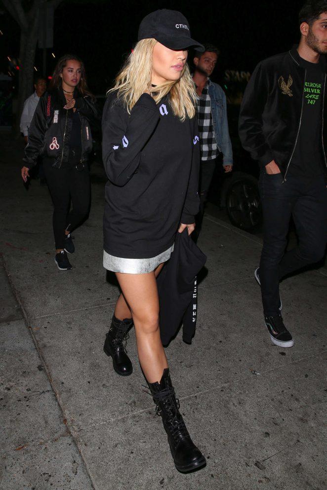 Rita Ora Arrives at Warwick Nightclub -11