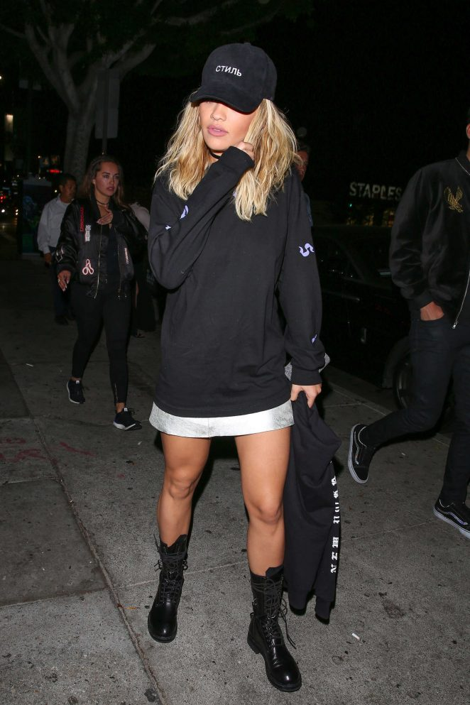 Rita Ora Arrives at Warwick Nightclub in Hollywood