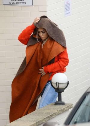 Rita Ora - Arrives at X Factor Studios in London