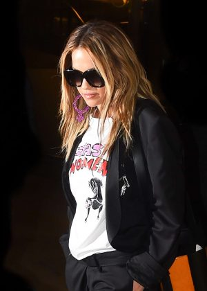 Rita Ora Arrives back in Paris