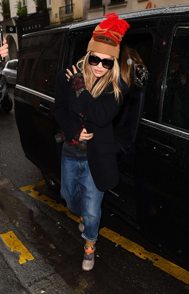 Rita Ora Arrives by Eurostar for Fashion Week in Paris
