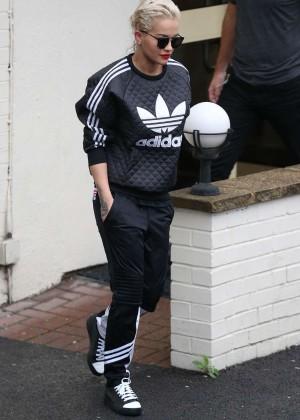 Rita Ora - Arrives For X Factor Rehearsal in London
