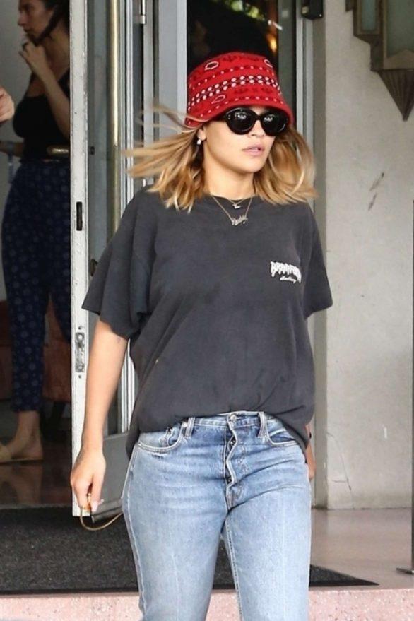 Rita Ora - Arrives to her hotel in Miami
