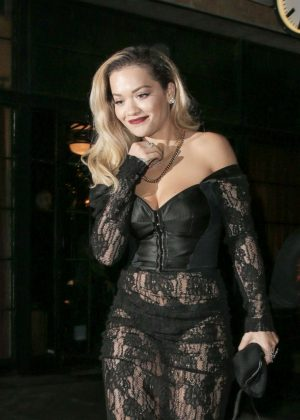 Rita Ora - Arriving at 2018 Grammy's after party in New York City