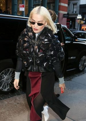 Rita Ora - Arriving at a hotel in New York
