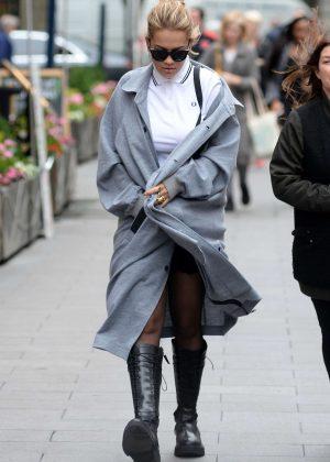 Rita Ora Arriving at Capital Radio Studios in London