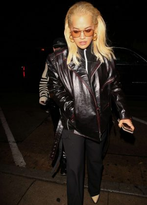 Rita Ora - Arriving at Craig's in West Hollywood