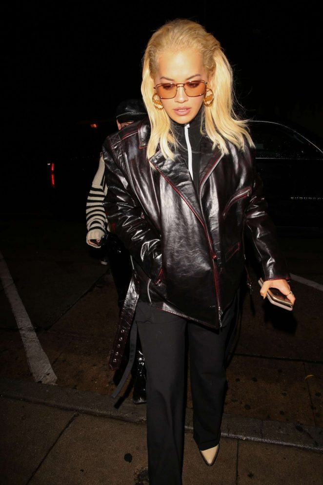 Rita Ora – Arriving at Craig's in West Hollywood
