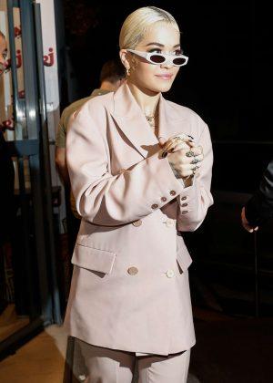 Rita Ora - Arriving at Gare du Nord in Paris