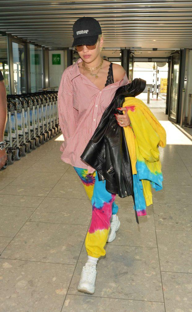 Rita Ora: Arriving at Heathrow Airport -07