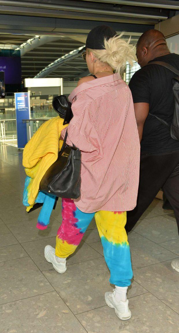 Rita Ora: Arriving at Heathrow Airport -08
