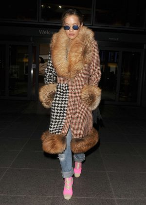 Rita Ora - Arriving at Heathrow airport in London