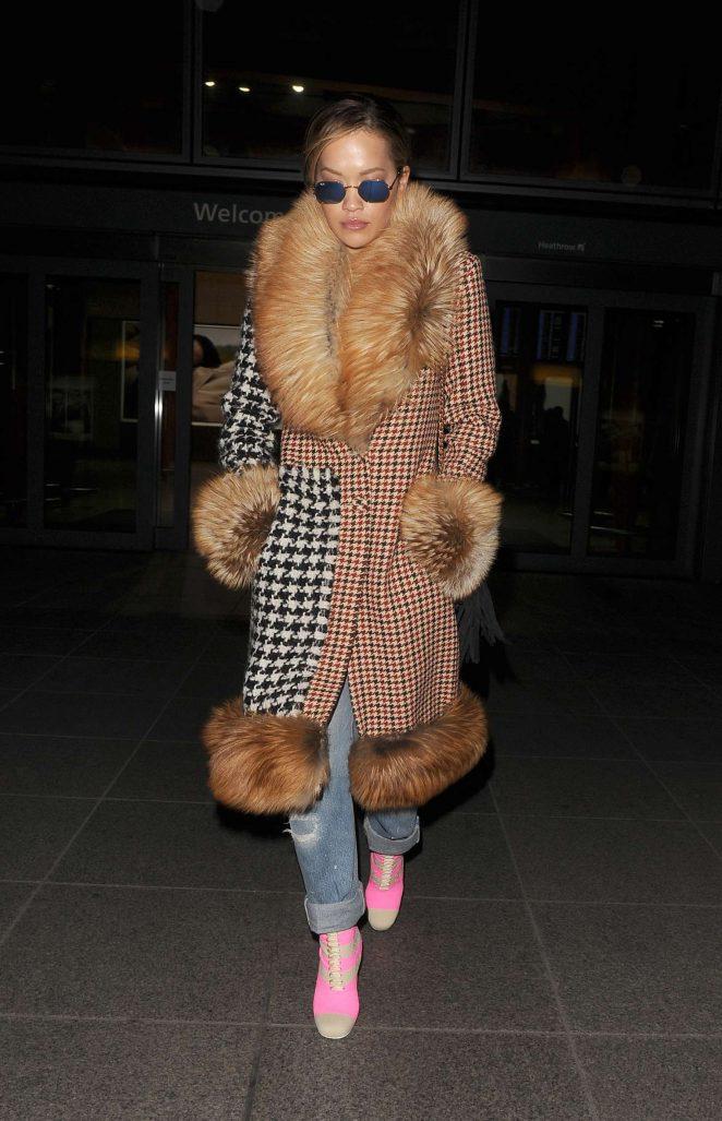 Rita Ora - Arriving at Heathrow airport in London