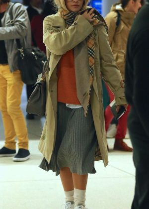 Rita Ora - Arriving at JFK airport in New York