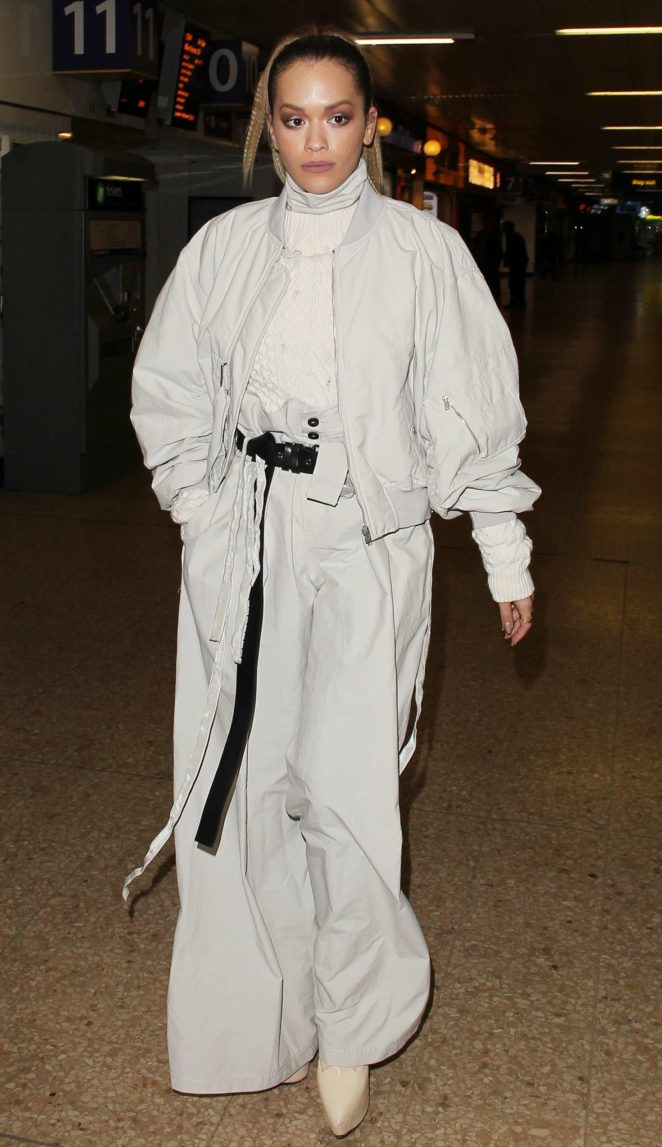 Rita Ora - Arriving at London Euston Station