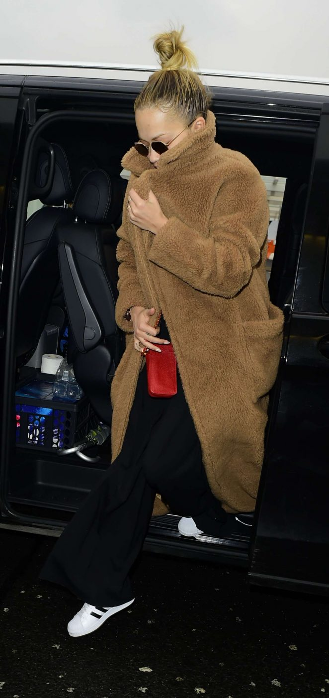 Rita Ora - Arriving at London Heathrow Airport