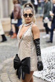 Rita Ora - Arriving at Miu Miu SS 2020 Show in Paris