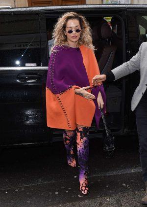 Rita Ora - Arriving at the Chanel store in Paris