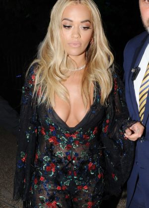 Rita Ora - Arriving at the Chiltern Firehouse in London
