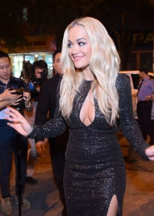 Rita Ora - Arriving at the H-Artistry in Vietnam