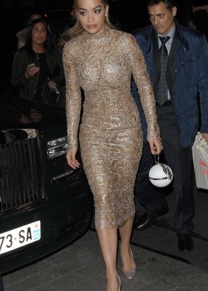 Rita Ora - Arriving at the Ralph & Russo After Party in Paris