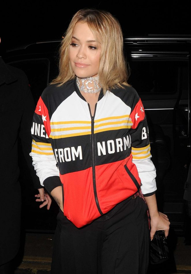 Rita Ora - Arriving for Adidas Dinner in London