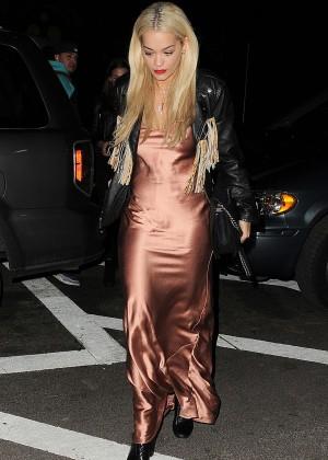 Rita Ora at ACME Restaurant in New York