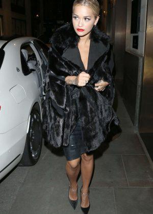 Rita Ora at Cafe Royal in London
