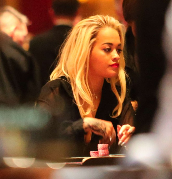 Rita Ora at Casino in Las Vegas