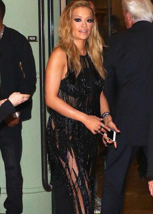 Rita Ora at Clive Davis Pre-Grammy Party in Beverly Hills