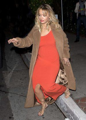 Rita Ora at 'Giorgio Baldi' Italian Restaurant in Santa Monica