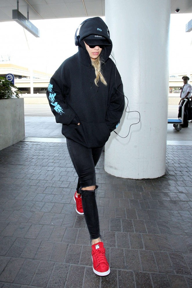 Rita Ora at LAX airport in LA