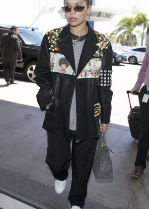 Rita Ora at LAX airport in Los Angeles