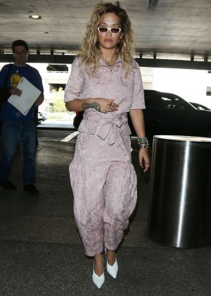 Rita Ora at Los Angeles International Airport