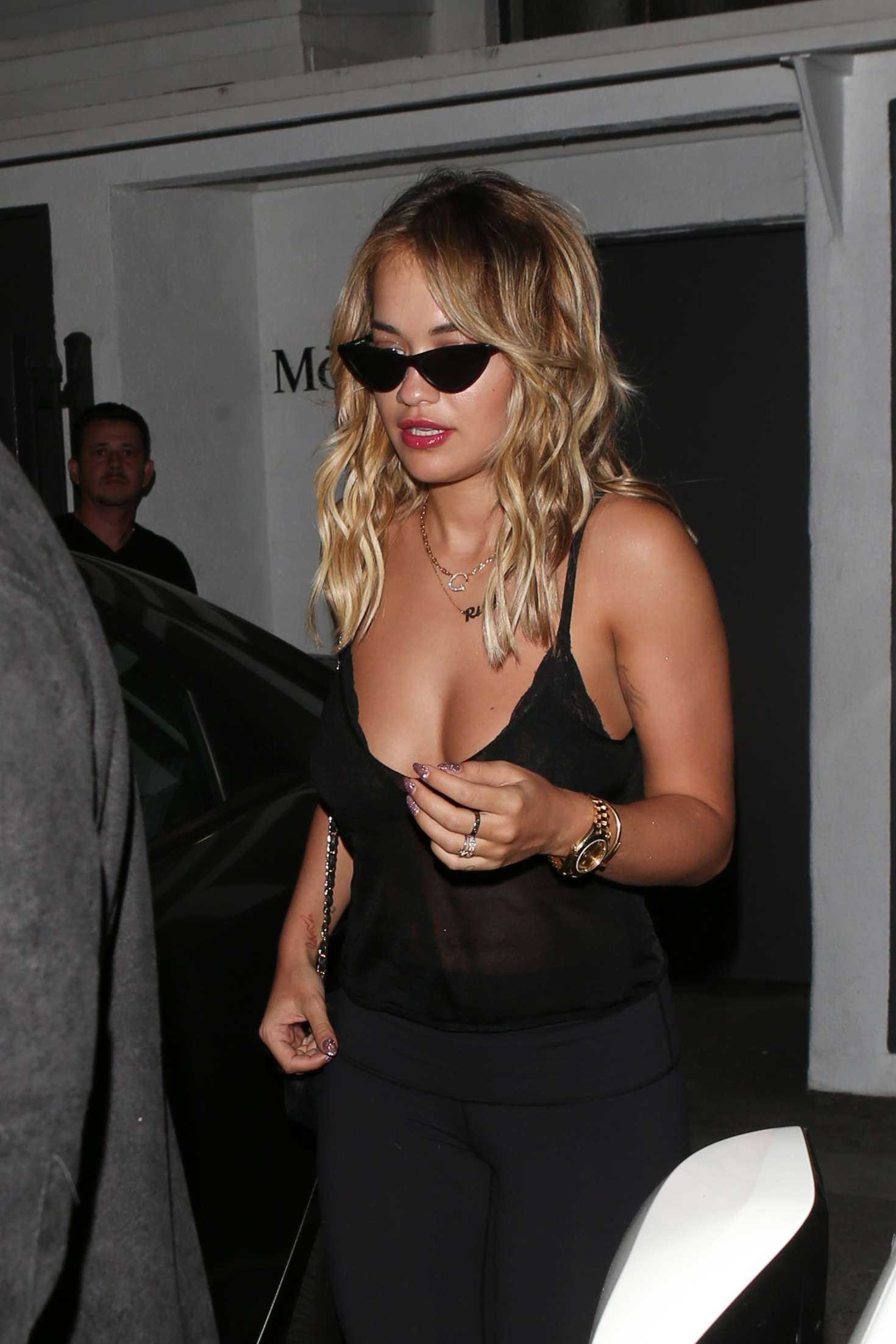 Rita Ora at MeCHE hair salon in Beverly Hills